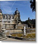 Water Cascade Palace Seehof Metal Print