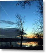 Water Color Sunset Metal Print