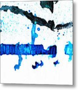Water Dance - Blue And White Art By Sharon Cummings Metal Print