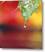 Water Dripping Metal Print