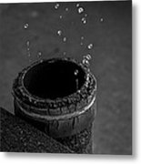 Water Dripping Up The Spout Metal Print