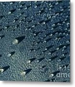 Water Droplets Close-up View  Metal Print