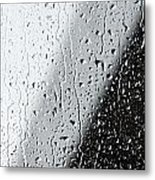 Water Drops On A Window Metal Print