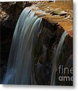 Water Fall At Seven Falls Metal Print by Robert D  Brozek