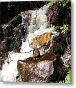 Water Fall Metal Print by Yvette Pichette