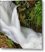 Water Flowing Over Rocks  Hawick Metal Print