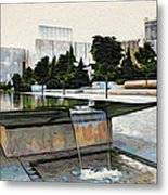 Water Flows At The Barnes Metal Print