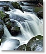 Water Flowsthrough The Mountains Metal Print