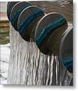 Water Fountain Natural Art In Progress Metal Print