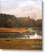 Water Gazebo Metal Print