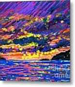 Water Island Sunset Metal Print