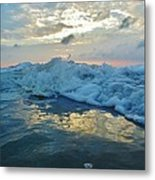 Water Level Surf And Pier 11 10/18 Metal Print