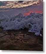 Water Level Surf Predawn 4 10/18 Metal Print
