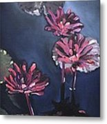 Water Lilies At Sunset Metal Print