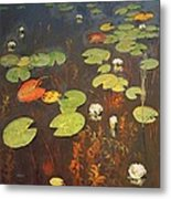 Water Lilies Metal Print by Isaak Ilyich Levitan