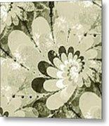 Water Lilies Spirals Metal Print