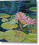 Water Lily In The Morning Metal Print