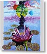 Water Lily Seeds Metal Print