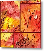 Water On Color Collage Eight Metal Print