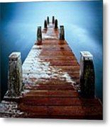 Water On The Jetty Metal Print
