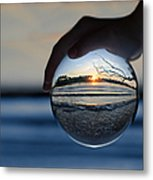 Water Planet Metal Print by Laura Fasulo