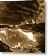 The Mighty Power Of The Falls Metal Print