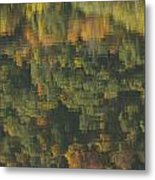 Water Reflections Abstract Autumn 2 A Metal Print