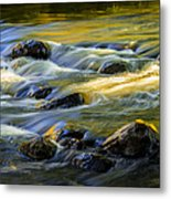 Beautiful Water Reflections On The Flowing Thornapple River Metal Print