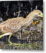 Water Runner Metal Print
