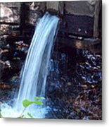 Water Running Fast Metal Print
