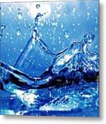 Water Splash Metal Print by Michal Bednarek