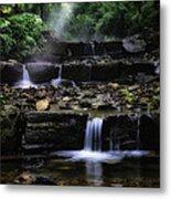 Water Steps In Fairmount Park Metal Print