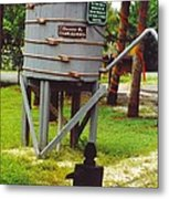 Water Tank Landscape Metal Print