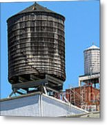 Water Tanks From The High Line Metal Print