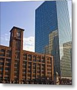 Water Taxi Fultons On The River Chicago Metal Print