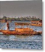 Water Taxi In China Metal Print