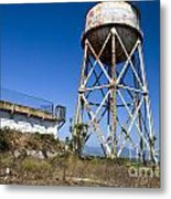 Water Tower Alcatraz Island Metal Print