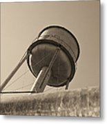 Water Tower In Deer Lodge Montana Metal Print