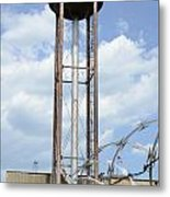 Water Tower In Detroit Metal Print
