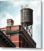 Water Tower In New York City - New York Water Tower 13 Metal Print