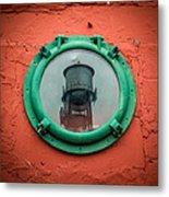 Water Tower Reflection Metal Print