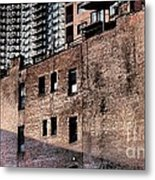 Water Tower With Cityscape Metal Print