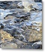 Water Under Ice Metal Print