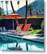 Water Waiting Palm Springs Metal Print by William Dey