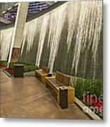 Water Wall - Aria Resort Las Vegas Metal Print