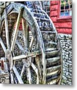 Water Wheel On Mill Metal Print