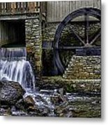 Water Wheel Plimouth Grist Mill At Jenney Pond Metal Print