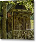 Water Wheel Shed I Metal Print