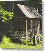 Water Wheel Shed Metal Print