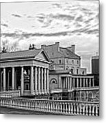 Water Works In Black And White Metal Print